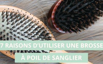 7 raisons d'utiliser une brosse à poil de sanglier